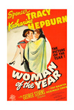 WOMAN OF THE YEAR, (poster art), Spencer Tracy, Katharine Hepburn, 1942 Posters