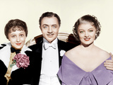 THE GREAT ZIEGFELD, from left: Luise Rainer, William Powell, Myrna Loy, 1936 Photo