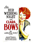 HER WEDDING NIGHT, Clara Bow on window card, 1930 Print