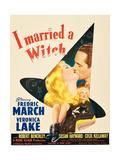 I MARRIED A WITCH, l-r: Veronica Lake, Fredric March on window card, 1942. Umělecké plakáty