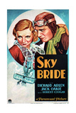 SKY BRIDE, US poster art, from left: Virginia Bruce, Richard Arlen, 1932 Prints