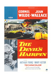 THE DEVIL'S HAIRPIN, bottom left from left: Jean Wallace, Cornel Wilde on poster art, 1957 Art