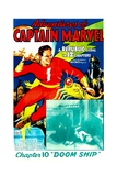 THE ADVENTURES OF CAPTAIN MARVEL, left: Tom Tyler in 'Chapter 10: Doom Ship', 1940 Poster
