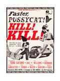 FASTER, PUSSYCAT! KILL! KILL!, Paul Trinka, Tura Satana, Lori Williams, Haji (top right), 1965. Kunstdrucke
