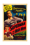 SUPERMAN AND THE MOLE MEN, Phyllis Coates, George Reeves, 1951 Poster