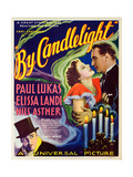 BY CANDLELIGHT, US poster art, from left: Nils Asther, Elissa Landi, Paul Lukas, 1933 Print