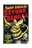 BEYOND BENGAL, man and python, 1934 Posters