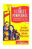 THE SCARLET PIMPERNEL, British ad art, from left: Leslie Howard, Merle Oberon, 1934 Posters