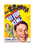 FIT FOR A KING, US poster art, from left: Helen Mack, Joe E. Brown, 1937 Posters