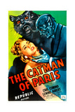 THE CATMAN OF PARIS, US poster, from left: Lenore Aubert, Robert J. Wilke, 1946 Poster