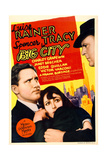 BIG CITY, from left: Spencer Tracy, Luise Rainer on midget window card, 1937 Prints