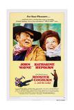 ROOSTER COGBURN, John Wayne, Katharine Hepburn, 1975 Prints