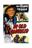 IN OLD AMARILLO, US poster, from left: Estelita Rodriguez, Roy Rogers, 1951 Prints