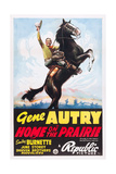 HOME ON THE PRAIRIE, Gene Autry, 1939. Art
