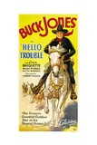 HELLO TROUBLE, Buck Jones, 1932. Poster