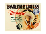MASSACRE, from bottom left: Ann Dvorak, center: Richard Barthelmess, 1934. Posters