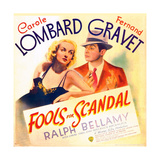 FOOLS FOR SCANDAL, US poster art, from left: Carole Lombard, Fernand Gravet, 1938 Prints