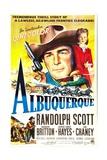 Albuquerque, Randolph Scott, Barbara Britton, 1948 Art