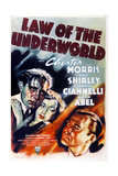 LAW OF THE UNDERWORLD, US poster art, from left: Richard Bond, Anne Shirley, Chester Morris, 1938 Prints