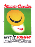 WITH A SMILE, (aka AVEC LE SOURIRE), French poster art, Maurice Checalier, 1936 Posters