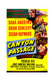 CANYON PASSAGE, US poster, bottom right from left: Dana Andrews, Susan Hayward, 1946 Posters