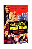 THE COUNT OF MONTE CRISTO, US poster, top left: Robert Donat, bottom left: Elissa Landi, 1934 Prints