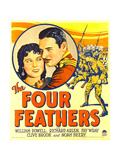 FOUR FEATHERS, from left: Fay Wray, Richard Arlen on window card, 1929 Prints
