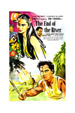 THE END OF THE RIVER, British poster, from top: Bibi Ferreira, Sabu, 1947 Prints