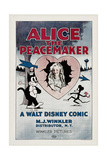 ALICE THE PEACEMAKER, center: Virginia Davis, 1924. Poster