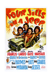 FOUR JILLS IN A JEEP, US poster, 1944 Prints