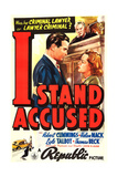I STAND ACCUSED, US poster art, foreground from left: Bob Cummings, Helen Mack, 1938 Prints