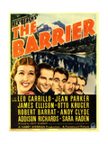 THE BARRIER, far left: Jean Parker, Leo Carillo (center) on midget window card, 1937 Prints