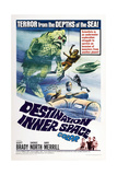 DESTINATION INNER SPACE, US poster, bottom right: Scott Brady, Sheree North, Gary Merrill, 1966 Prints