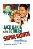 SUPER-SLEUTH, US poster art, from left: Jack Oakie, Ann Sothern, Jack Oakie, 1937 Plakat