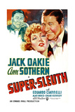 SUPER-SLEUTH, US poster art, from left: Jack Oakie, Ann Sothern, Jack Oakie, 1937 Print