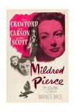 Mildred Pierce, Joan Crawford, Zachary Scott, Jack Carson, 1945 Print