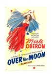 OVER THE MOON, US poster art, Merle Oberon, 1939 Prints