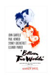 BETWEEN TWO WORLDS, US poster, Paul Henreid, Faye Emerson, John Garfield, Eleanor Parker, 1944 Prints