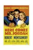 HERE COMES MR. JORDAN, Rita Johnson, Robert Montgomery, Evelyn Keyes, 1941 Prints