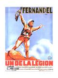 UN DE LA LEGION, French poster art, Fernandel, 1936 Print