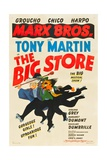 THE BIG STORE, the Marx Brothers-from left: Harpo Marx, Chico Marx, Groucho Marx, 1941 Affiche