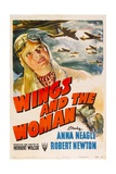 WINGS AND THE WOMAN (aka THEY FLEW ALONE), top left: Anna Neagle, 1942. Poster