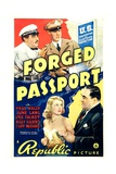 FORGED PASSPORT, top from left: Billy Gilbert, Paul Kelly, bottom left: June Lang, 1939 Prints