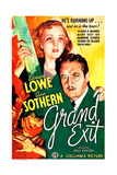 GRAND EXIT, US poster art, from top: Ann Sothern, Edmund Lowe, 1935 Prints