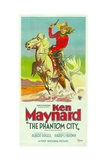 THE PHANTOM CITY, atop horse: Ken Maynard; 3-Sheet poster, 1928. Prints