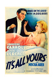 IT'S ALL YOURS, US poster art, from left: Francis Lederer, Madeleine Carroll, 1937 Posters