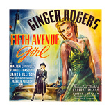 FIFTH AVENUE GIRL, (aka 5TH AVE GIRL), Ginger Rogers on six sheet poster art, 1939. Posters