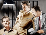 CROSSFIRE, from left: Robert Ryan, Robert Mitchum, Robert Young, 1947 Photo
