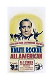 KNUTE ROCKNE ALL AMERICAN, Pat O'Brien, 1940. Prints