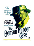 BENSON MURDER CASE, William Powell on window card, 1930. Prints